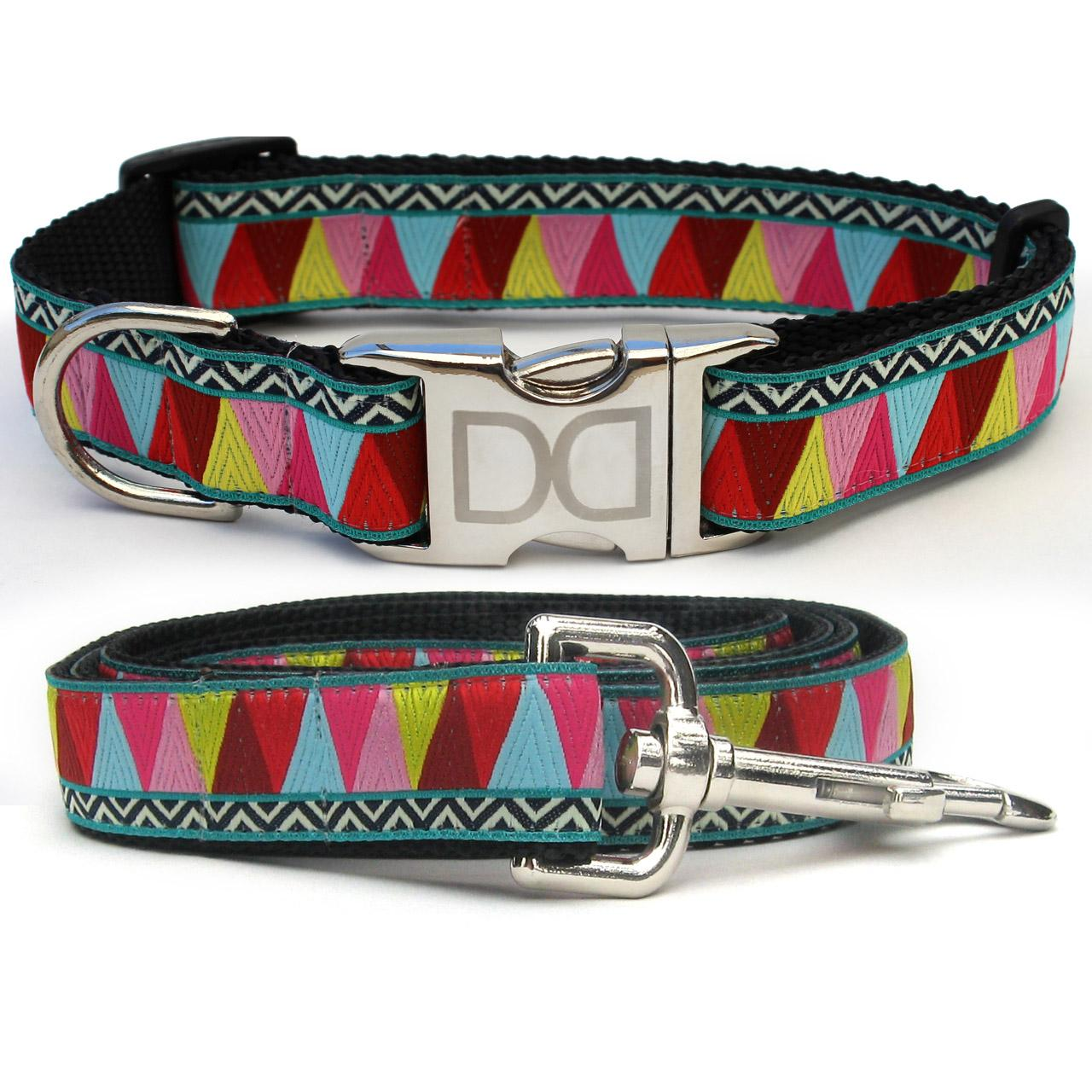 Santa Fe Dog Collar and Leash Set by Diva Dog