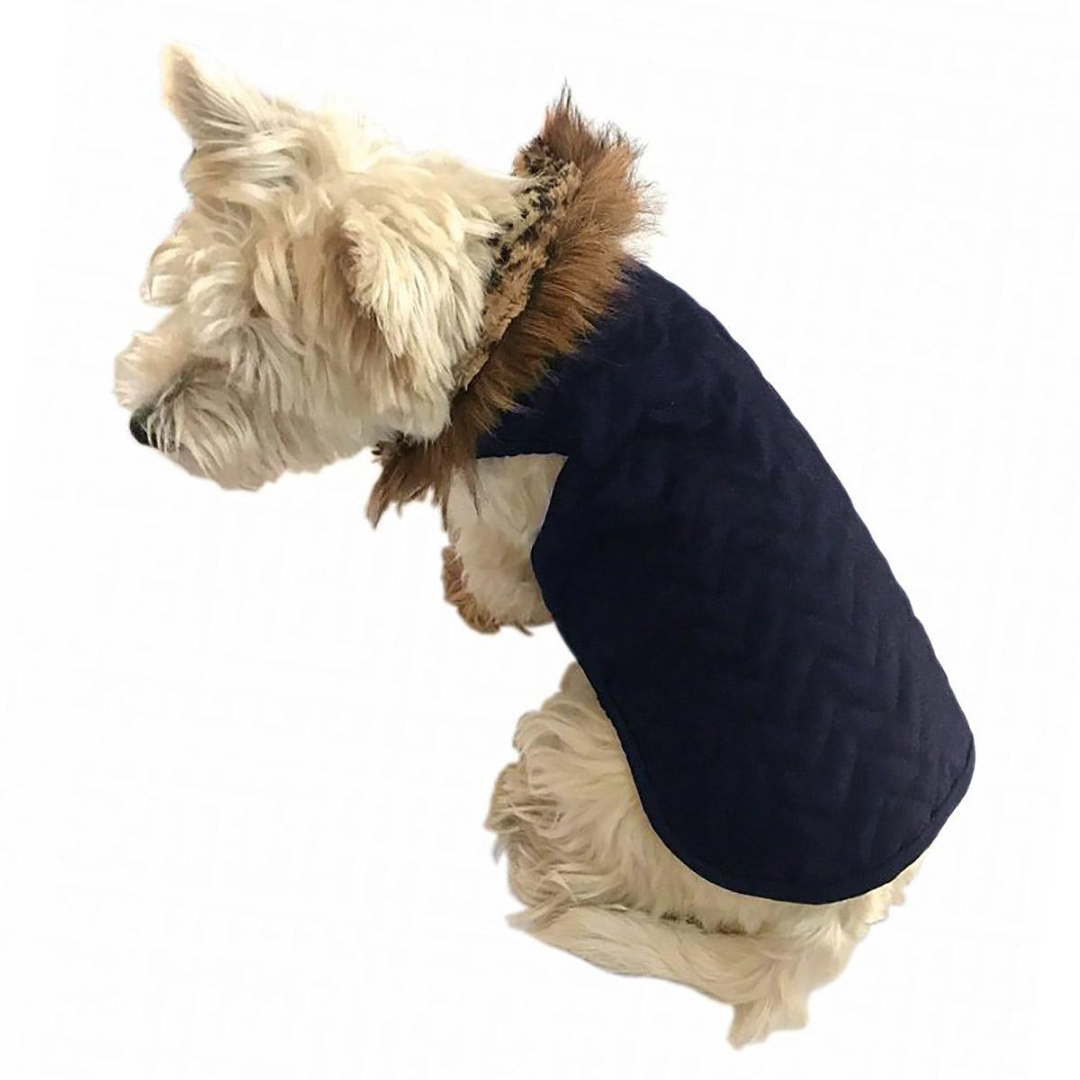 The Ziggy Quilted Denim Dog Coat by The Dog Squad