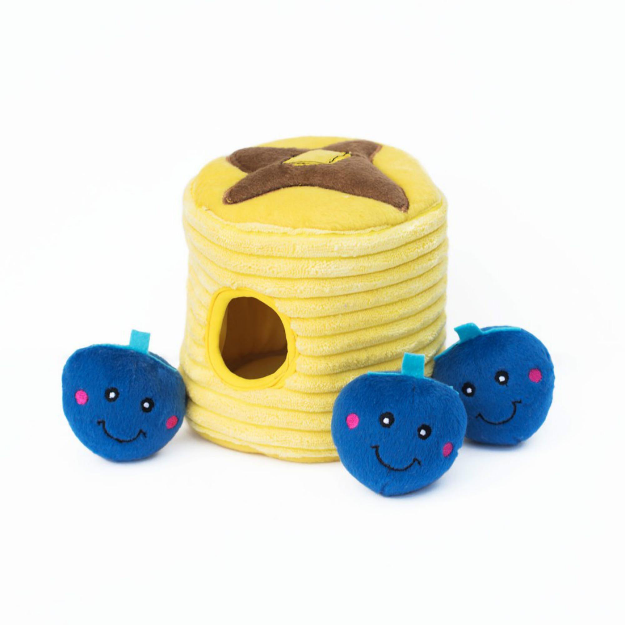ZippyPaws Burrow Dog Toy - Blueberry Pancakes