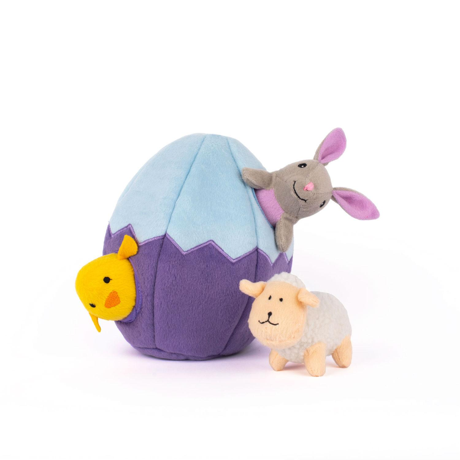 ZippyPaws Burrow Dog Toy - Easter Egg and Friends