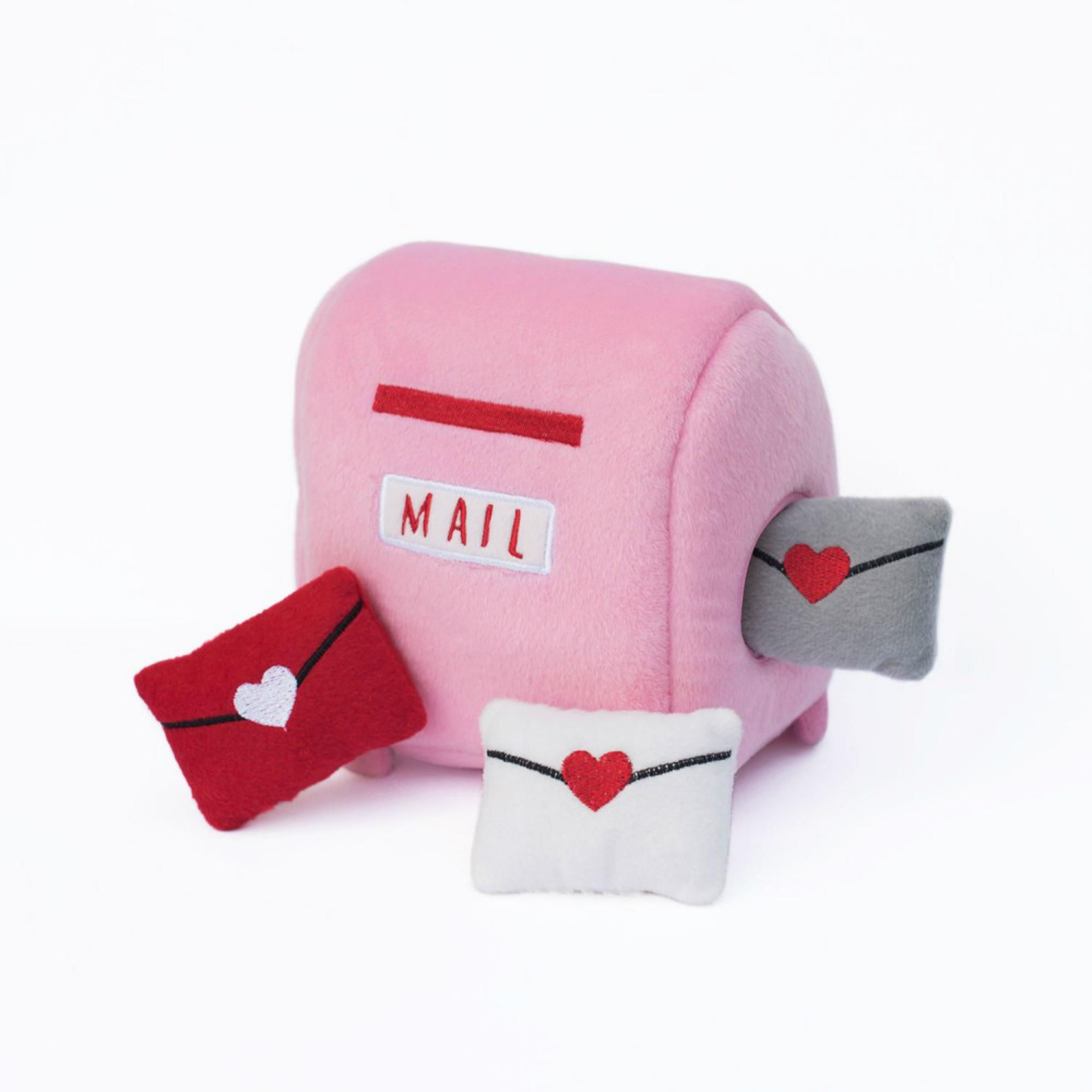 ZippyPaws Burrow Dog Toy - Mailbox And Love Letters