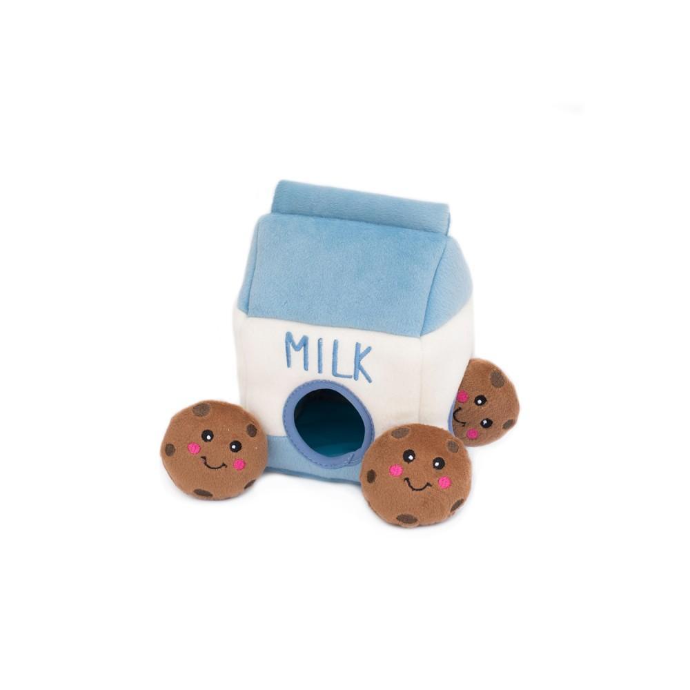 ZippyPaws Burrow Dog Toy - Milk and Cookies