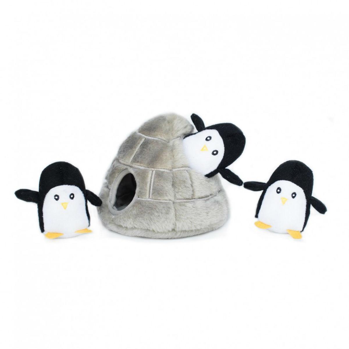ZippyPaws Burrow Dog Toy - Penguin Cave