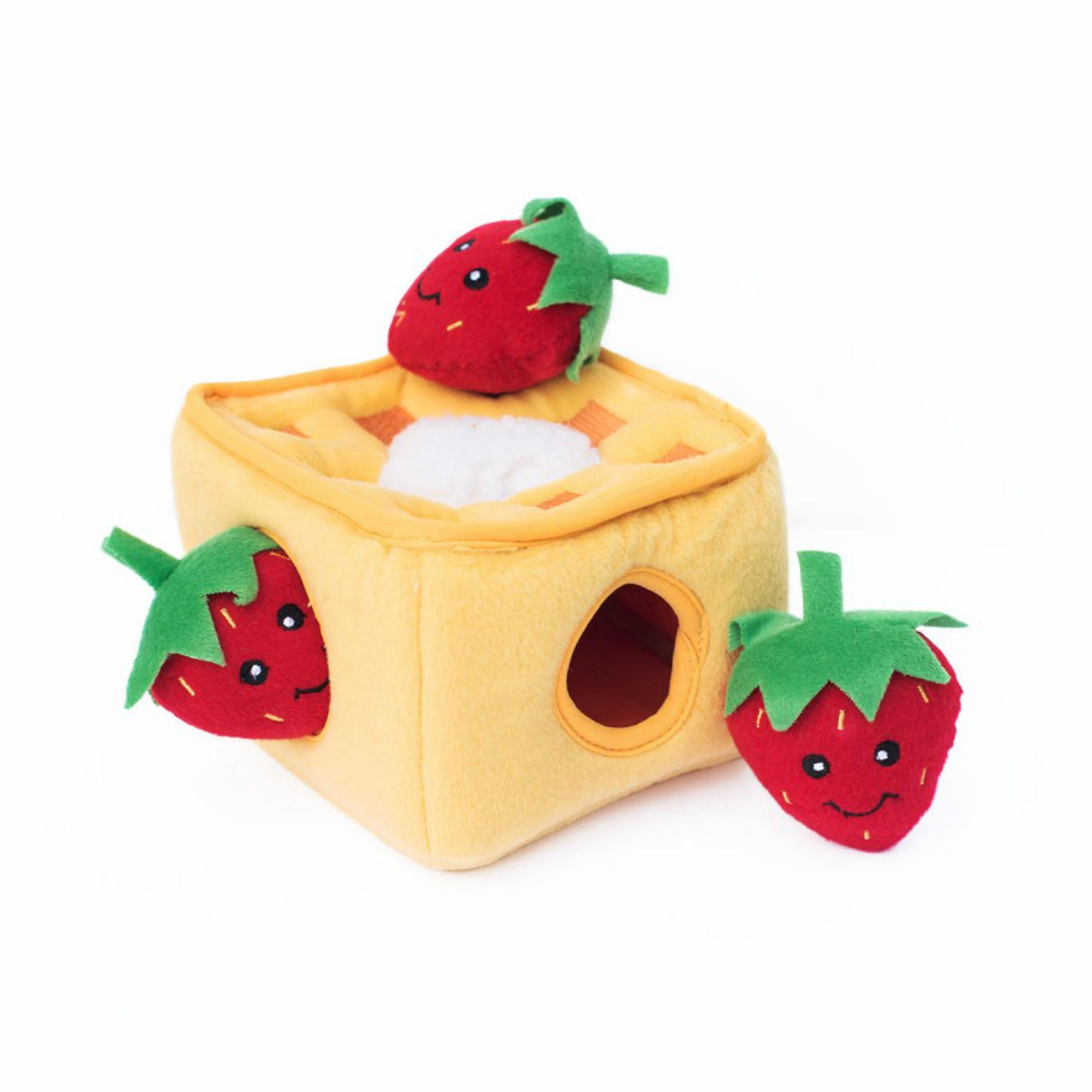 ZippyPaws Burrow Dog Toy - Strawberry Waffles