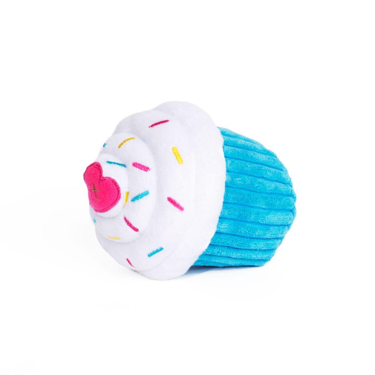 ZippyPaws Cupcake Dog Toy - Blue