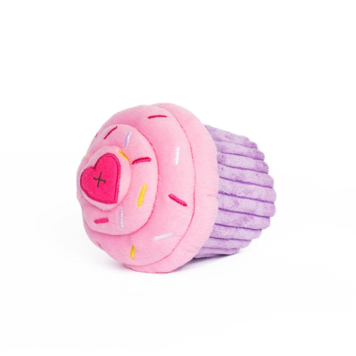 ZippyPaws Cupcake Dog Toy - Pink