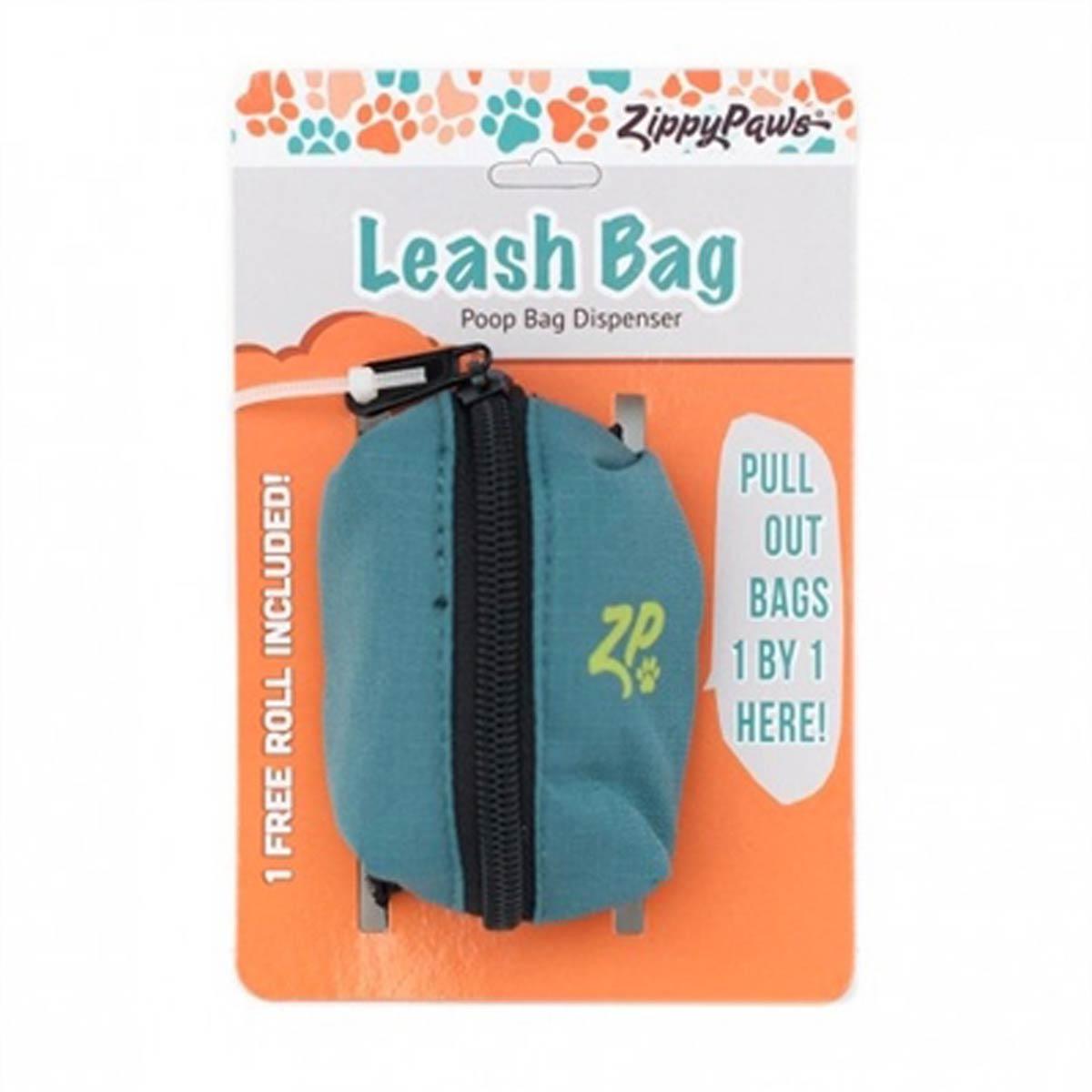ZippyPaws Adventure Dog Leash Bag - Forest Green