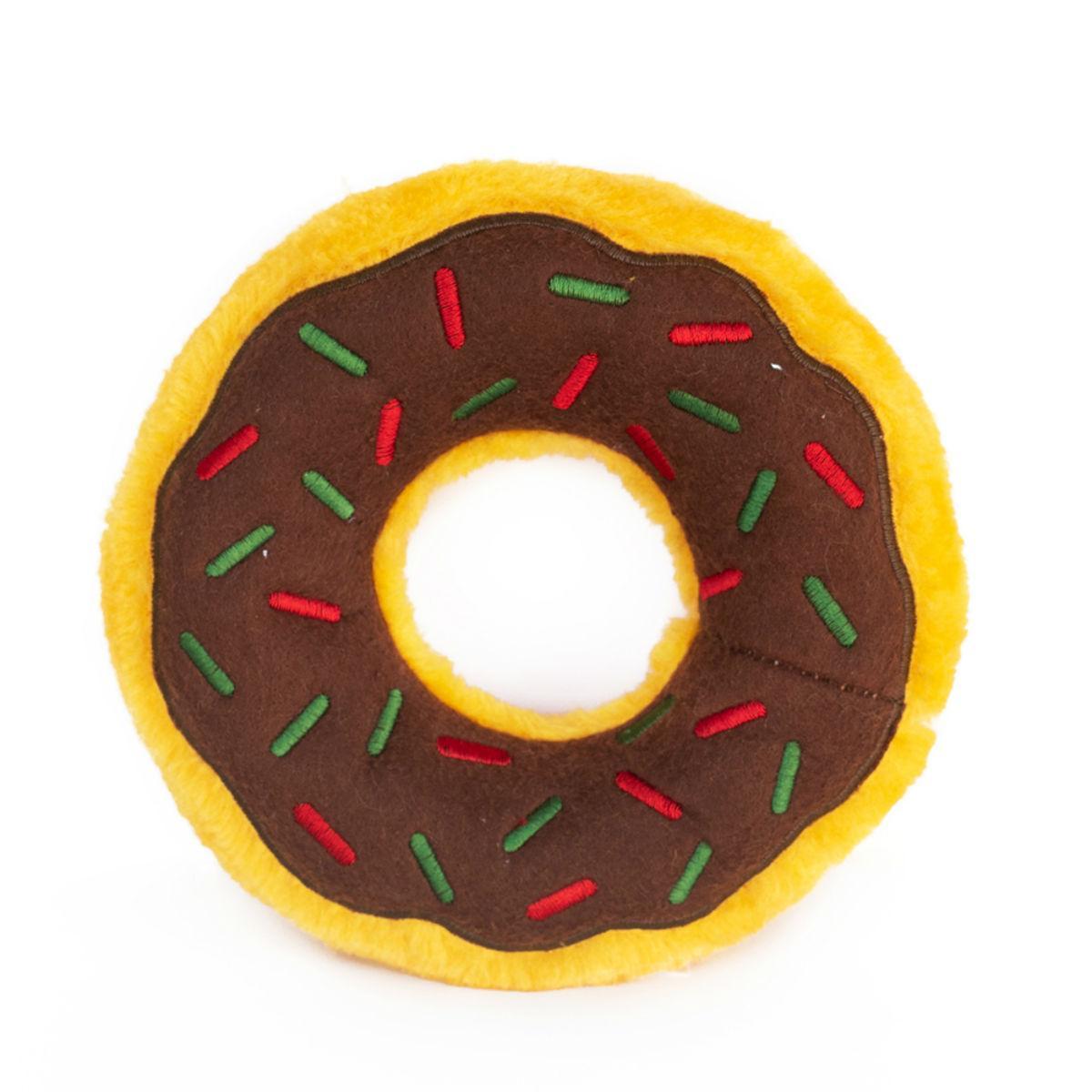 ZippyPaws Holiday Donutz Dog Toy - Gingerbread