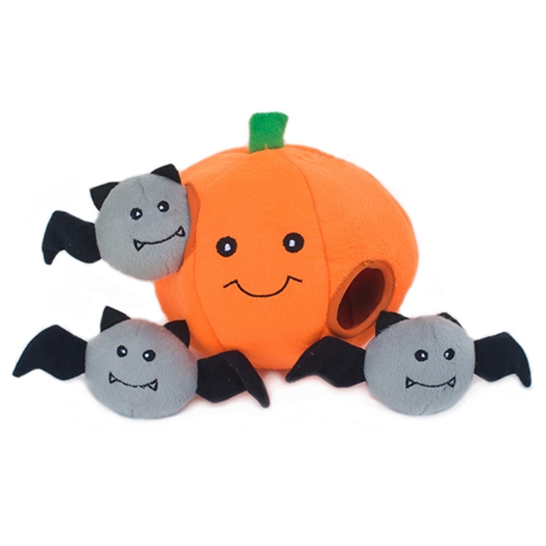 ZippyPaws Halloween Burrows Dog Toy - Pumpkin