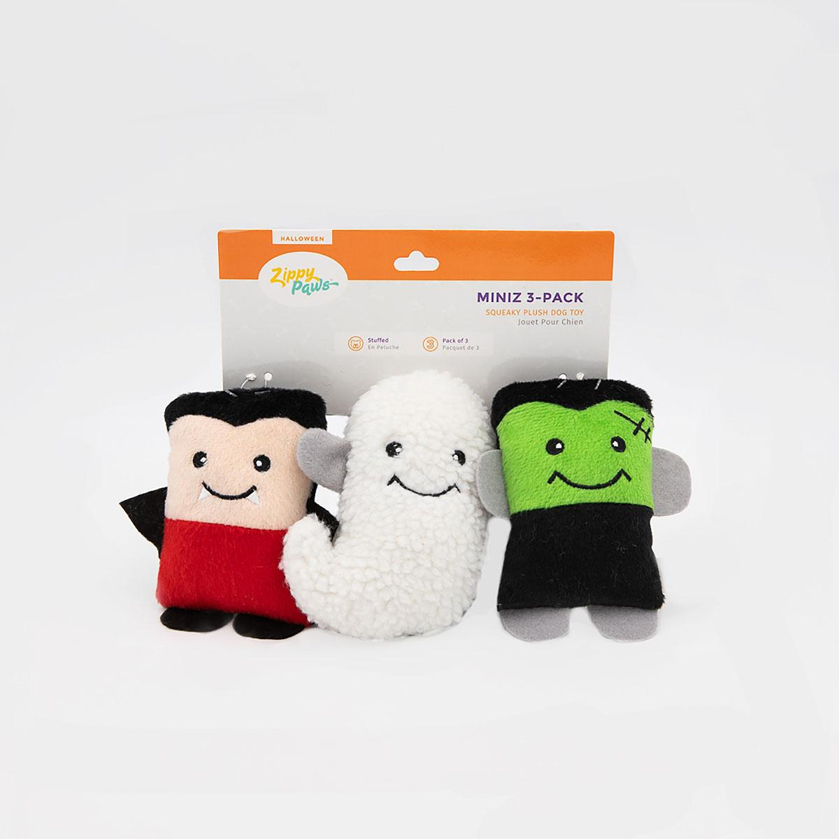 ZippyPaws Halloween Miniz Dog Toys - Monsters