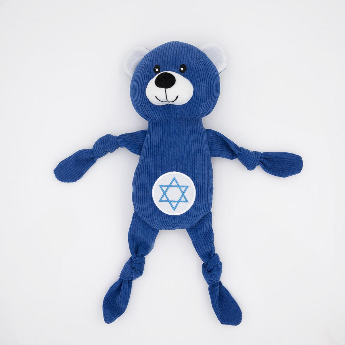 ZippyPaws Hanukkah Corduroy Cuddlerz Dog Toy - Bear