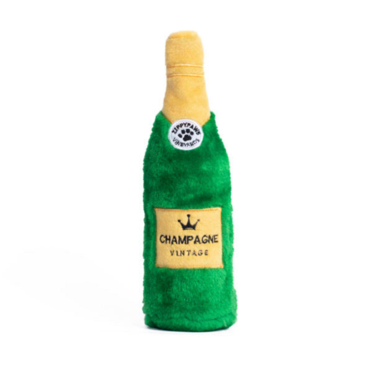ZippyPaws Happy Hour Crusherz Dog Toy - Champagne