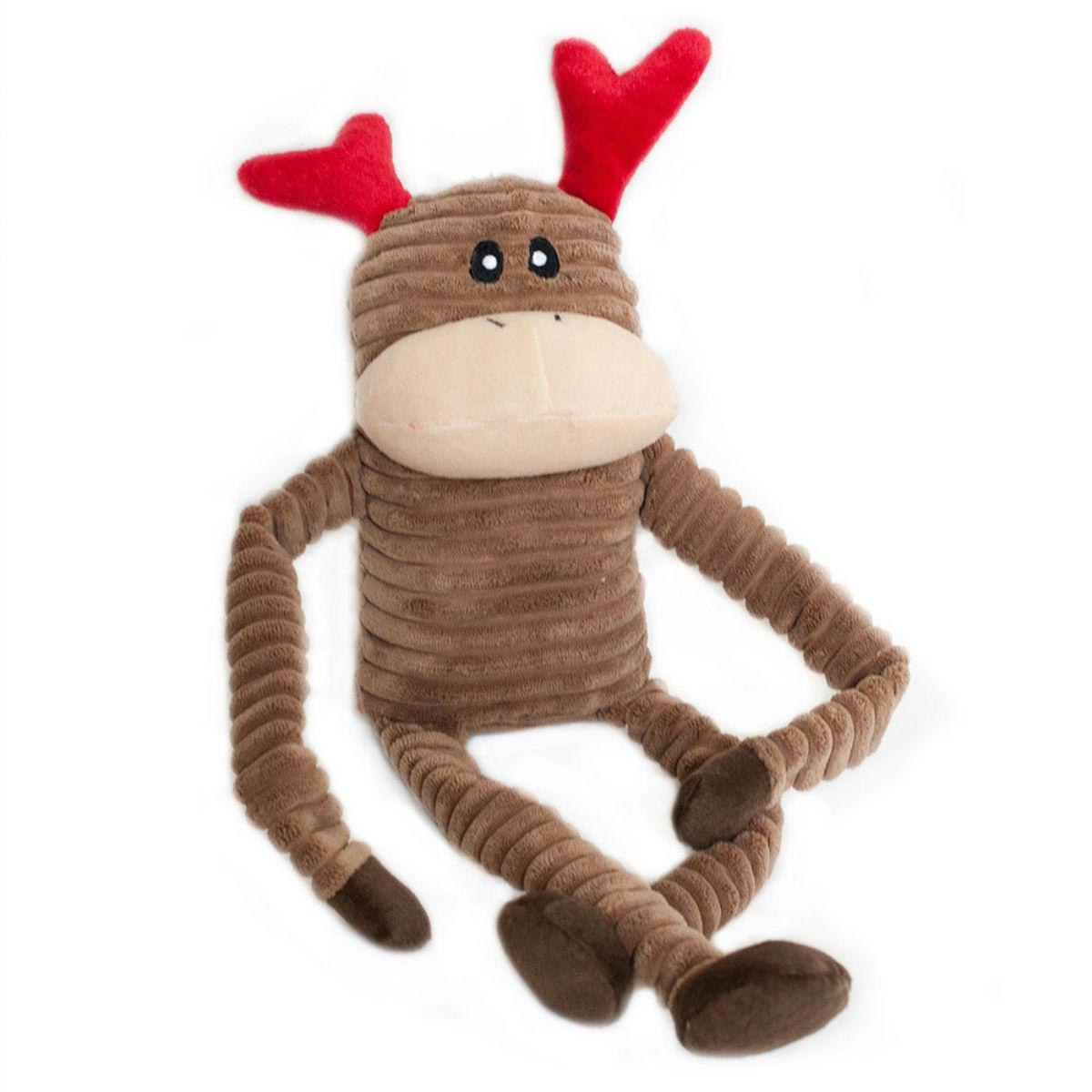 ZippyPaws Holiday Crinkle Dog Toy - Reindeer