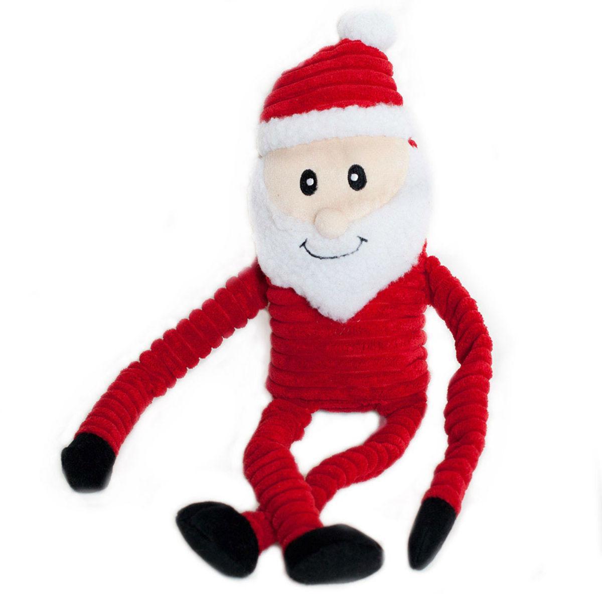 ZippyPaws Holiday Crinkle Dog Toy - Santa