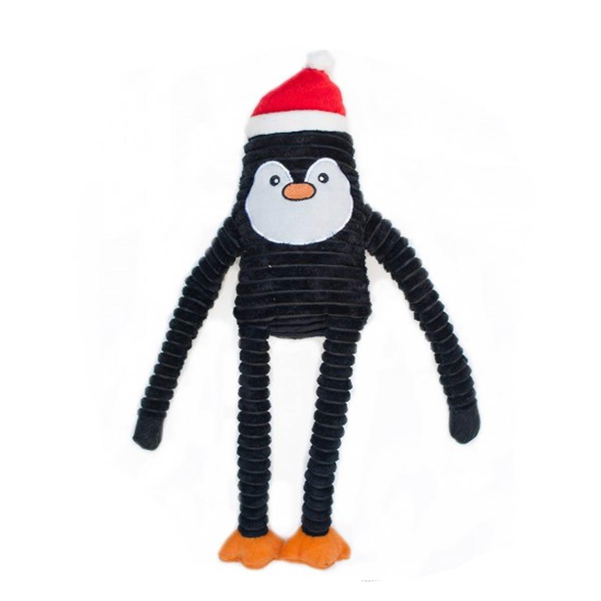 ZippyPaws Holiday Crinkle Dog Toy - Penguin