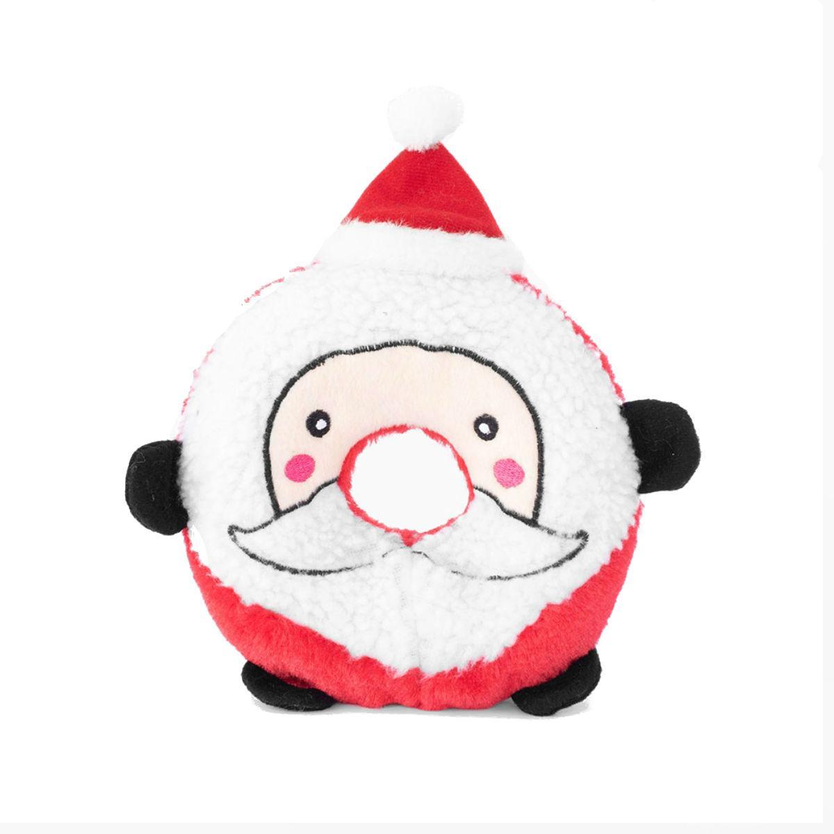 ZippyPaws Holiday Donutz Buddies Dog Toy - Santa