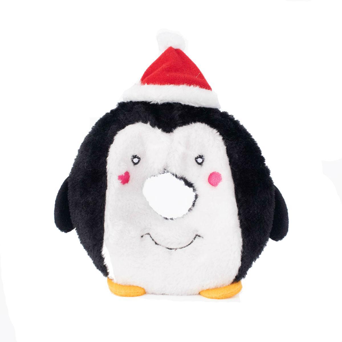 ZippyPaws Holiday Donutz Buddies Dog Toy - Penguin