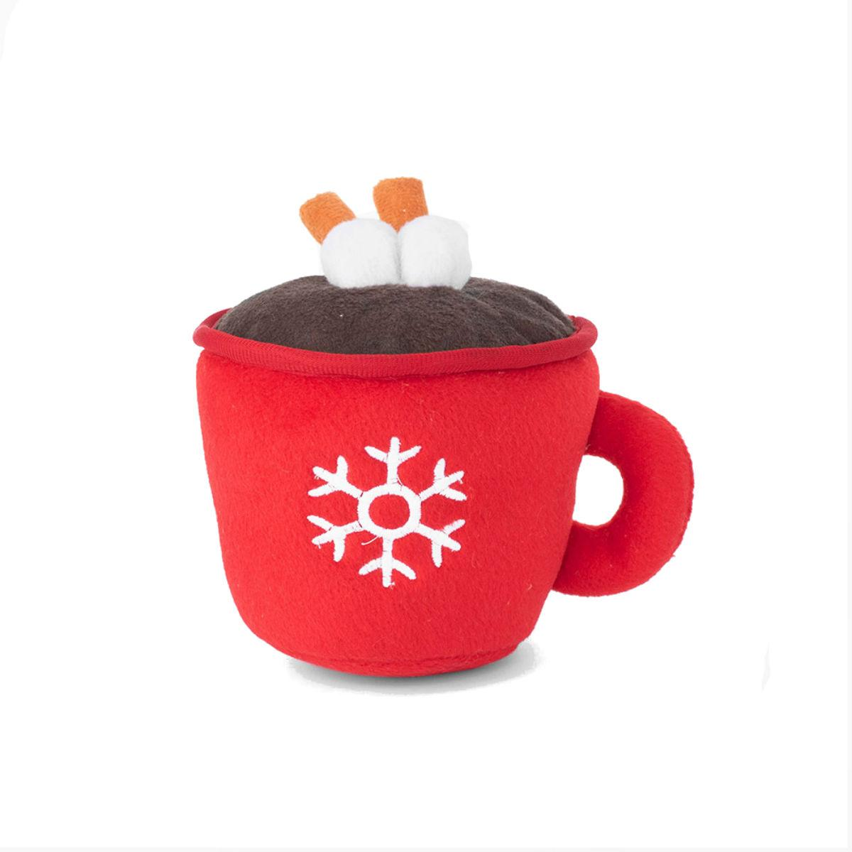 ZippyPaws Holiday Hot Cocoa Dog Toy