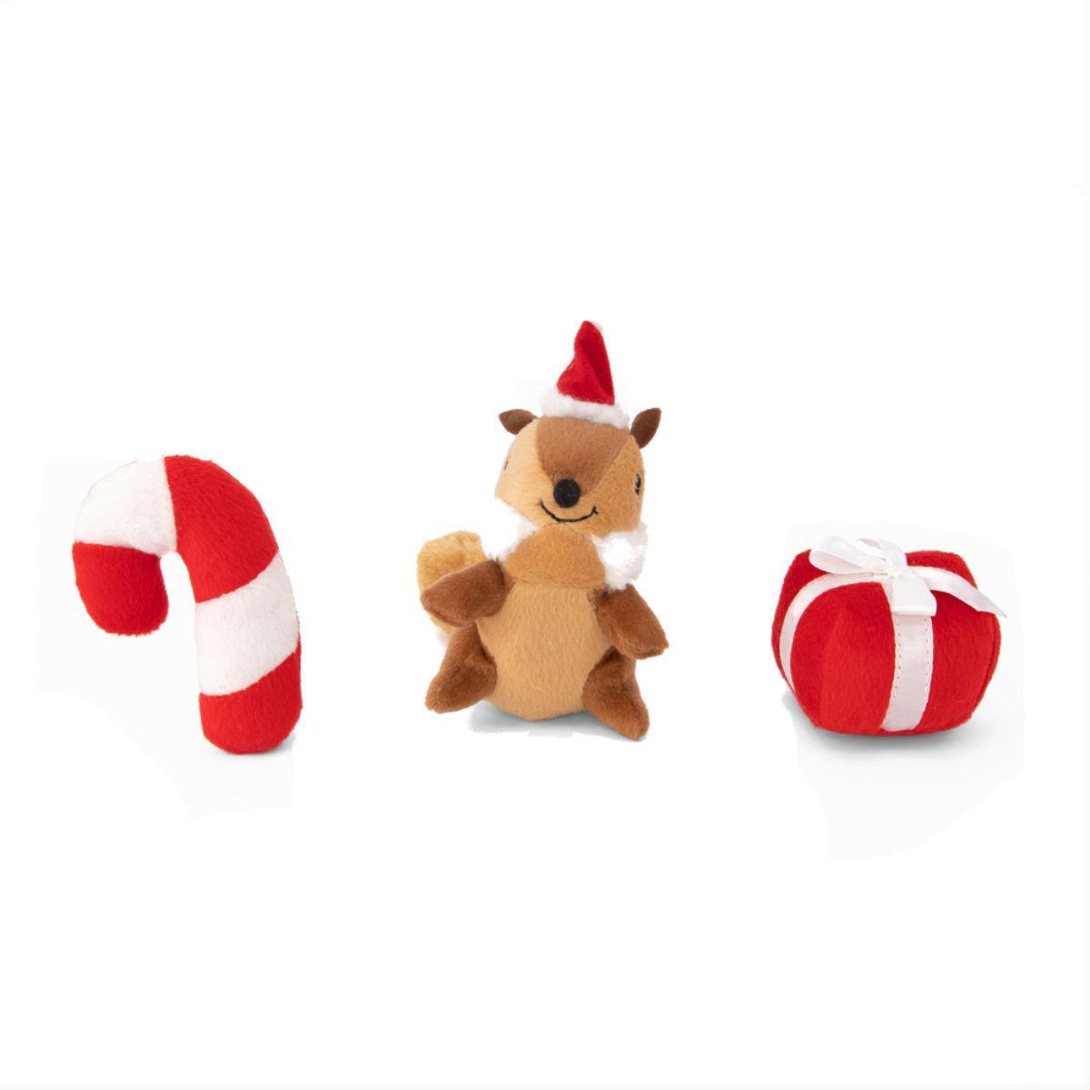 ZippyPaws Holiday Miniz Dog Toys - Festive Friends