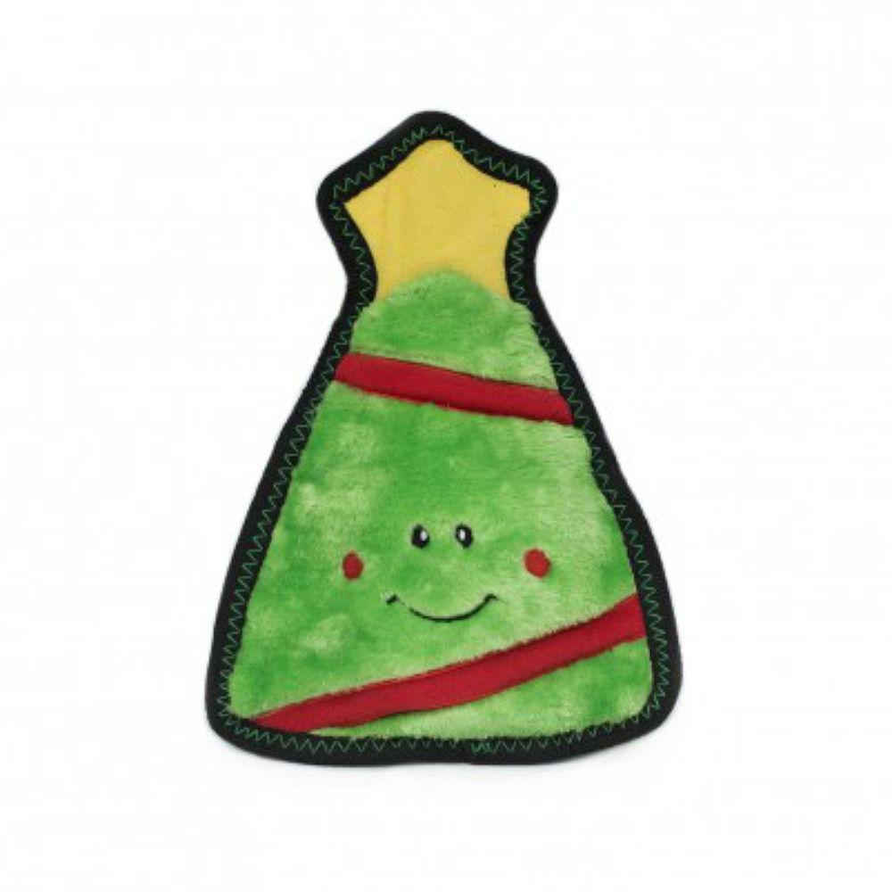 ZippyPaws Holiday Z-Stitch Dog Toy - Christmas Tree
