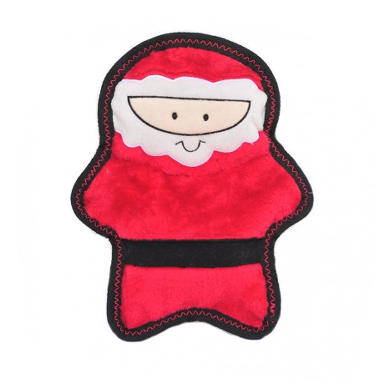 ZippyPaws Holiday Z-Stitch Dog Toy - Santa