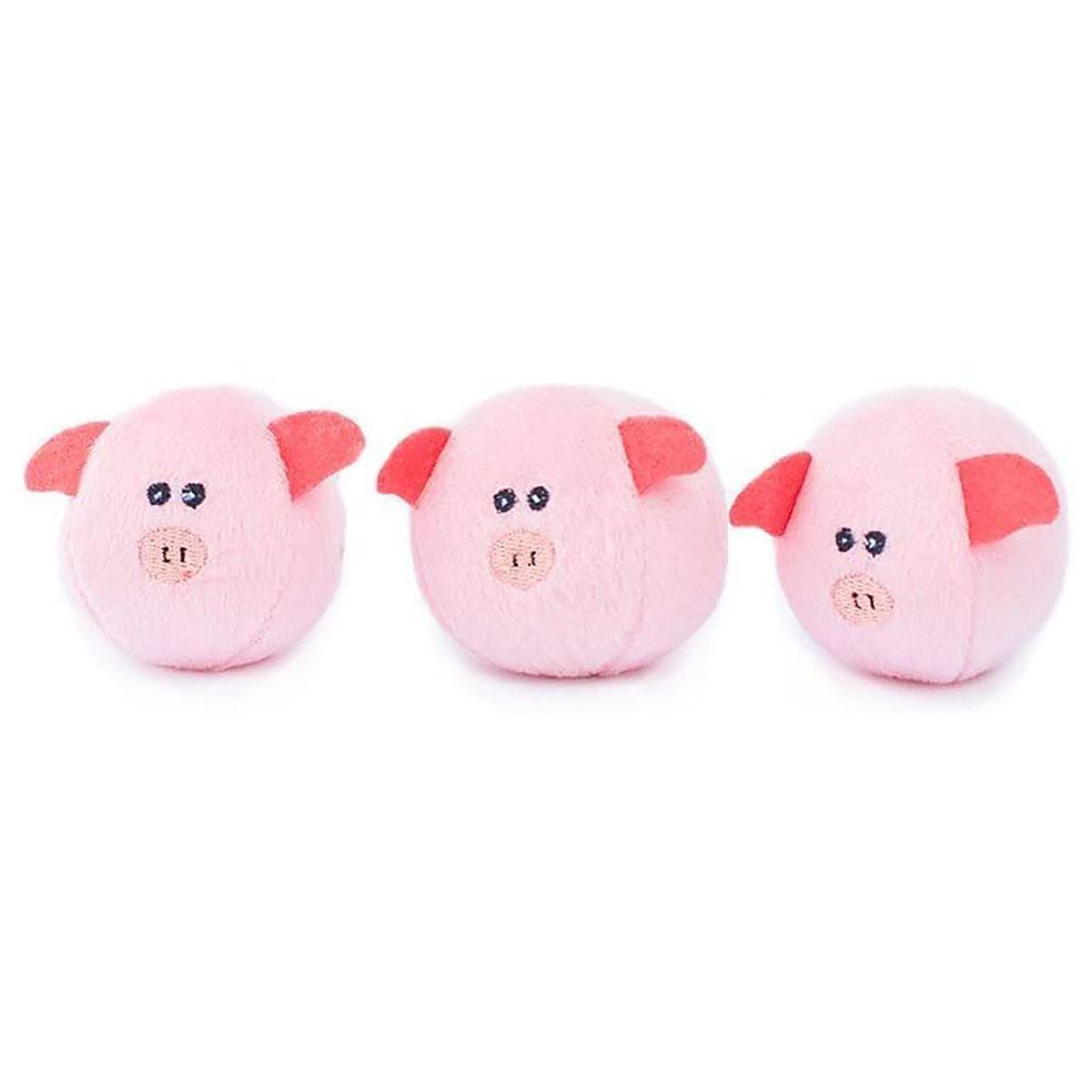 ZippyPaws Miniz Dog Toys - Bubble Pigs