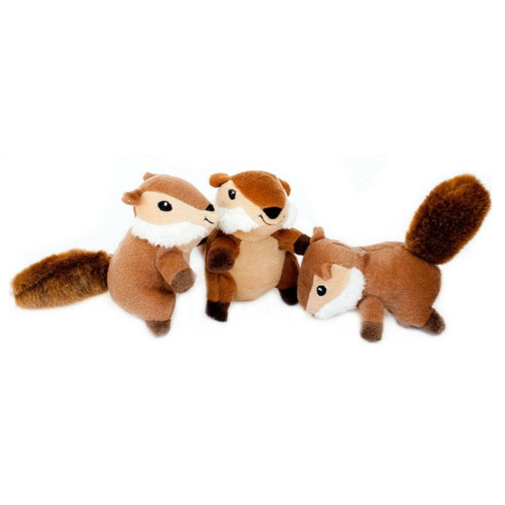 ZippyPaws Miniz Dog Toys - Chipmunks
