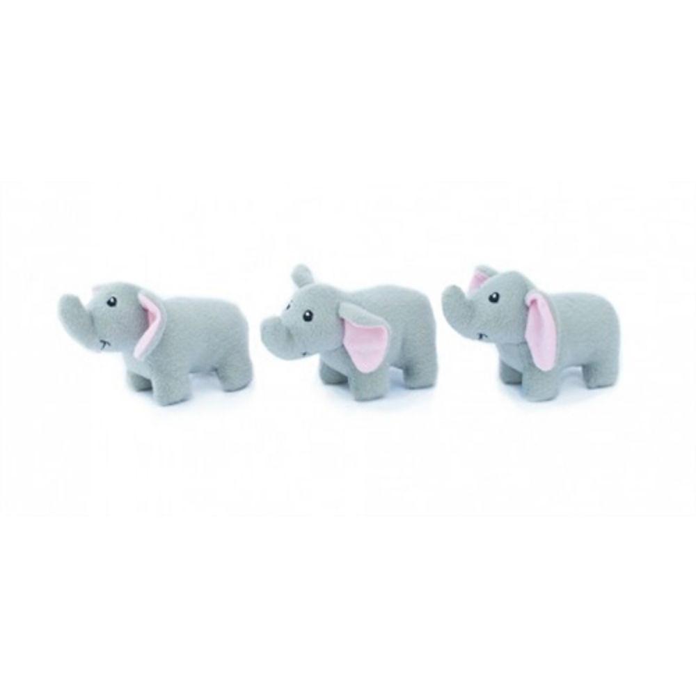 ZippyPaws Miniz Dog Toys - Elephants