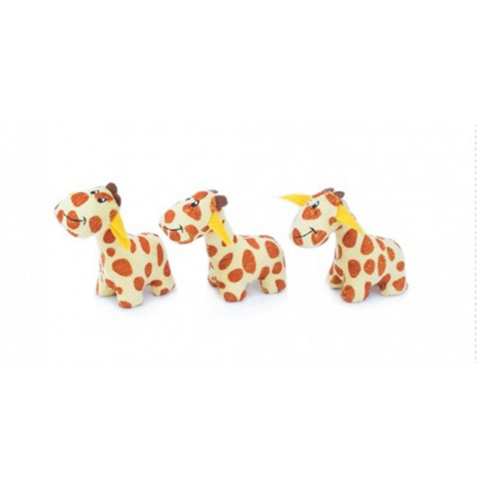 ZippyPaws Miniz Dog Toys - Giraffes