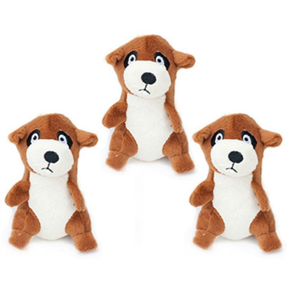 ZippyPaws Miniz Dog Toys - Meerkats