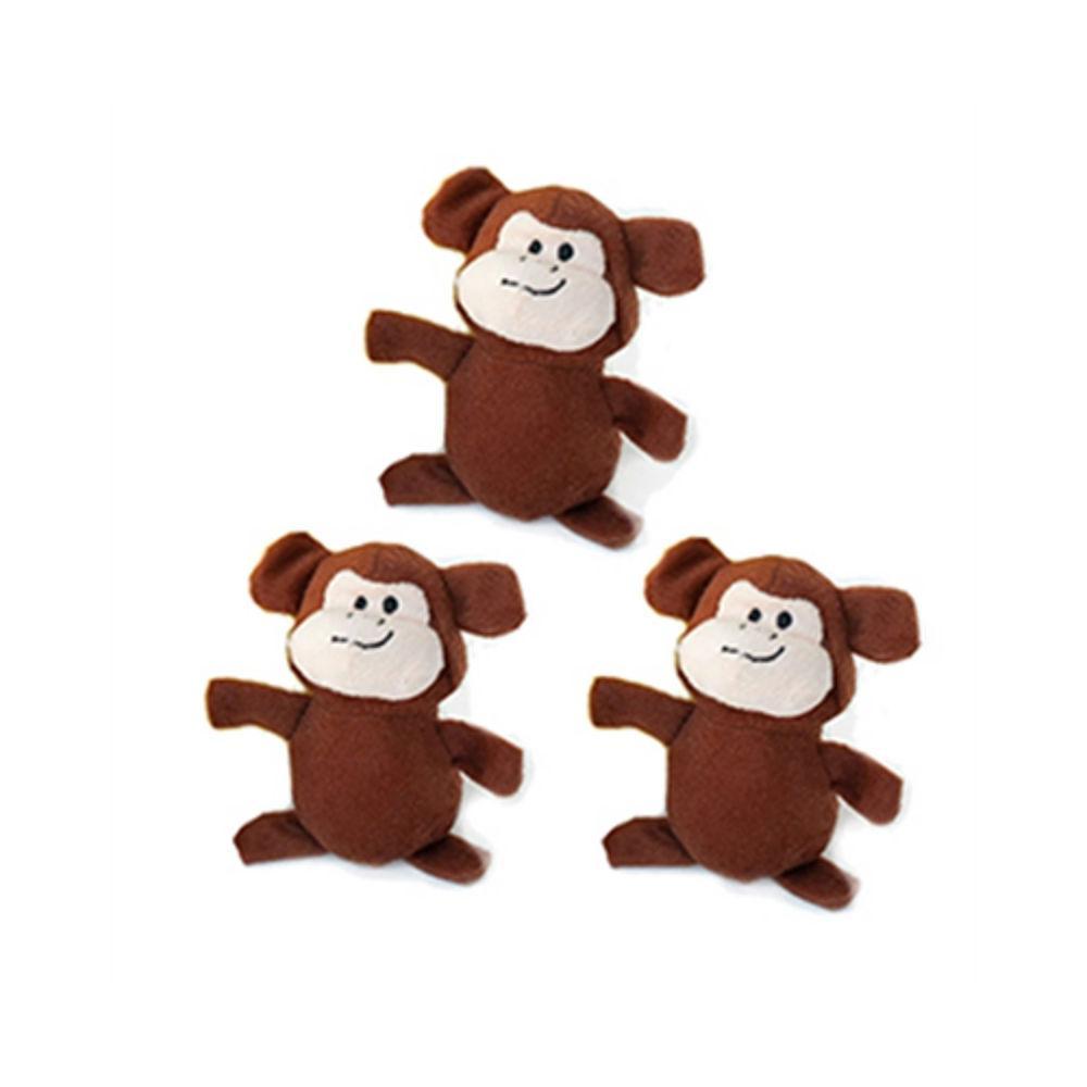 ZippyPaws Miniz Dog Toys - Monkeys