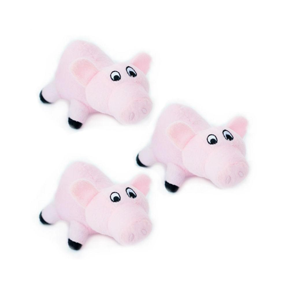 ZippyPaws Miniz Dog Toys - Pigs