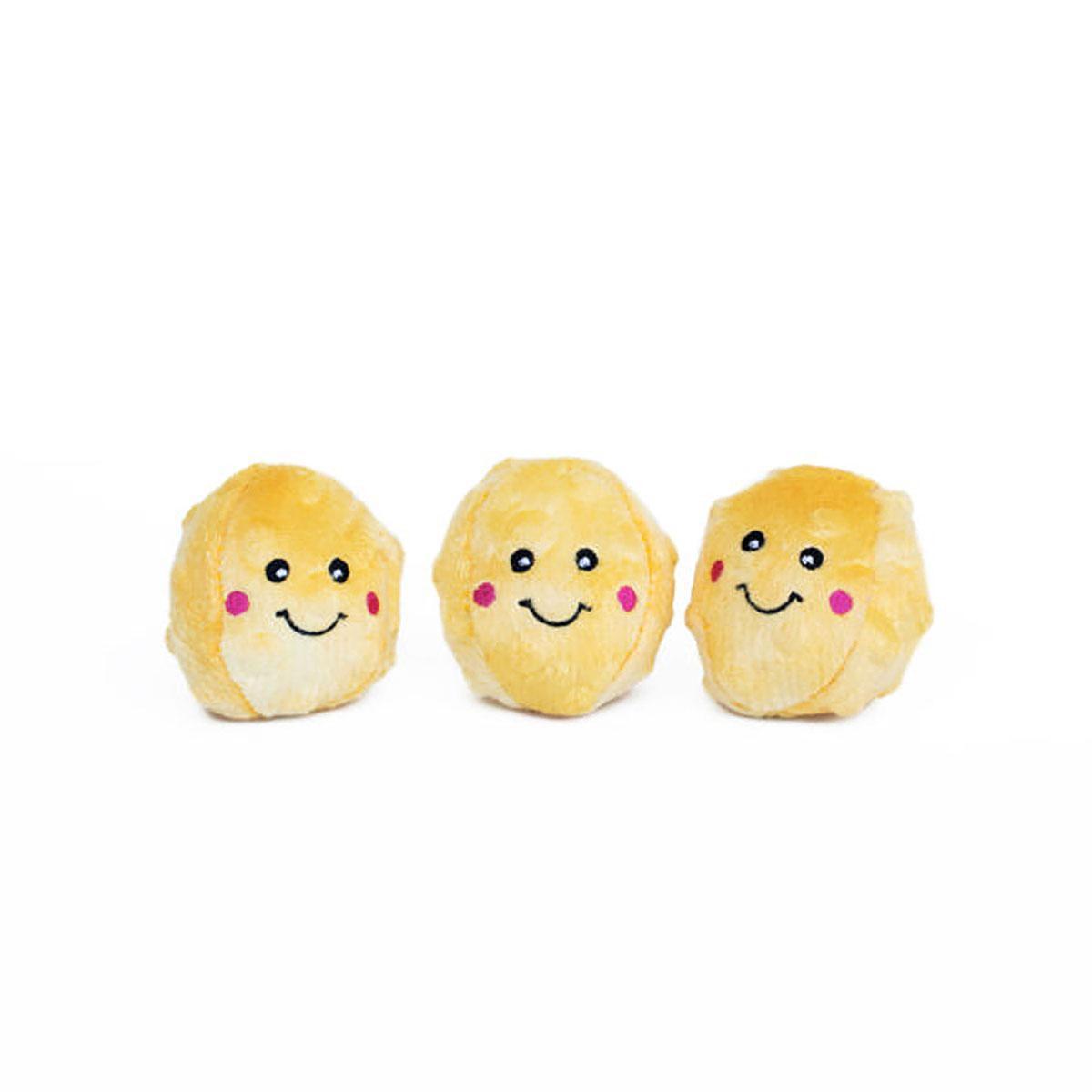 ZippyPaws Miniz Dog Toys - Popcorns