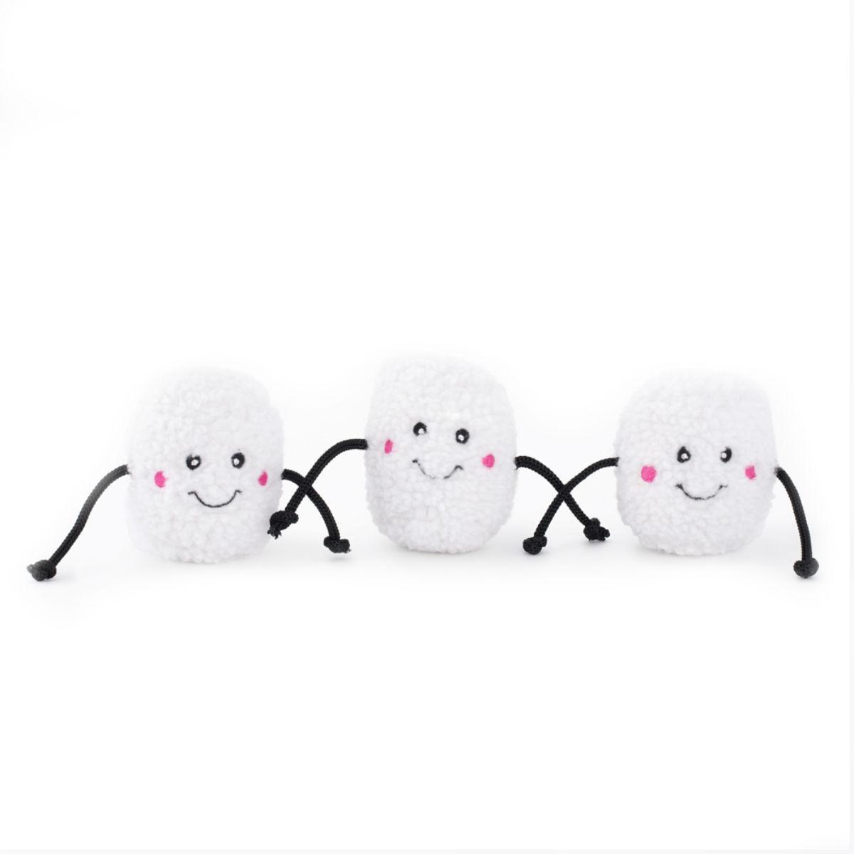 ZippyPaws Holiday Miniz Dog Toys - Marshmallows