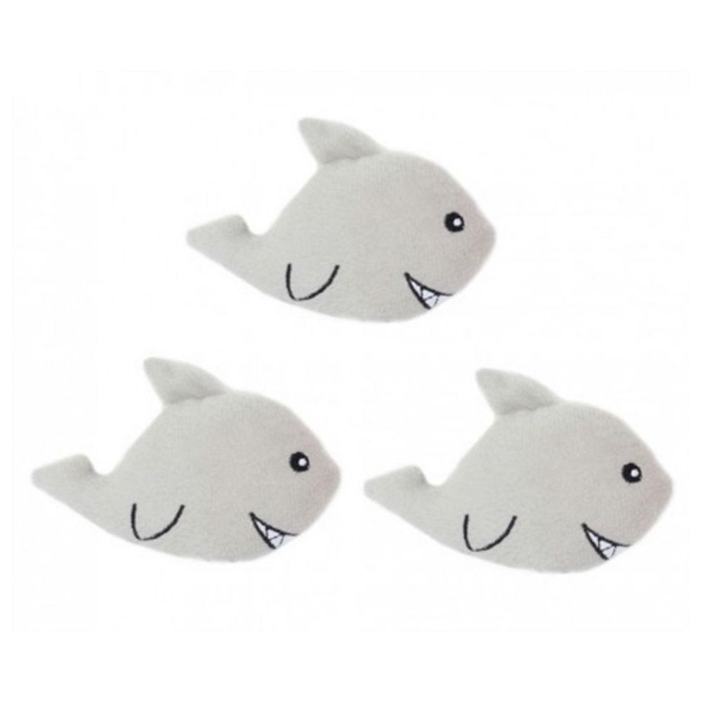 ZippyPaws Miniz Dog Toys - Sharks