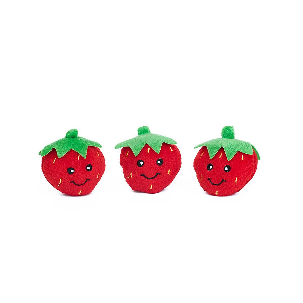 ZippyPaws Miniz Dog Toys - Strawberries