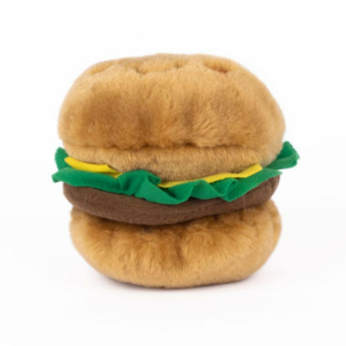 ZippyPaws NomNomz Dog Toy - Hamburger