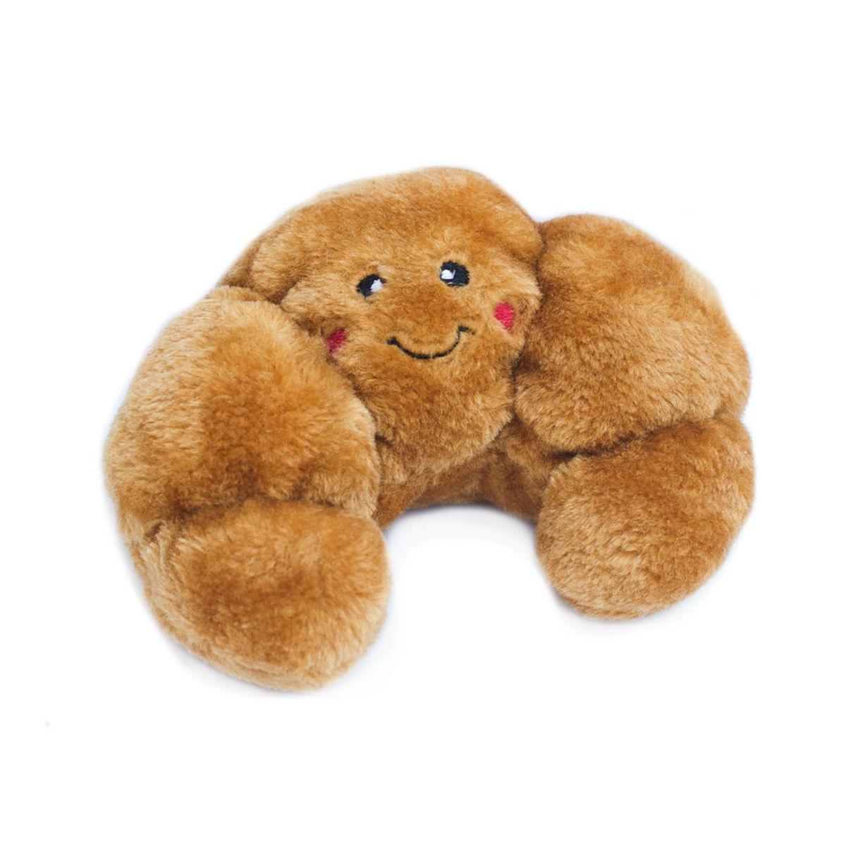 ZippyPaws NomNomz Dog Toy - Croissant