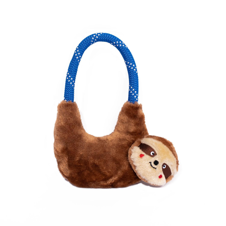 ZippyPaws Rope Hangerz Dog Toy - Sloth
