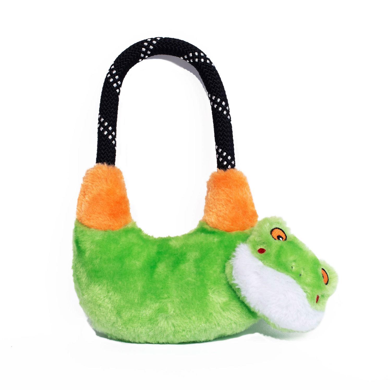 ZippyPaws Rope Hangerz Dog Toy - Tree Frog