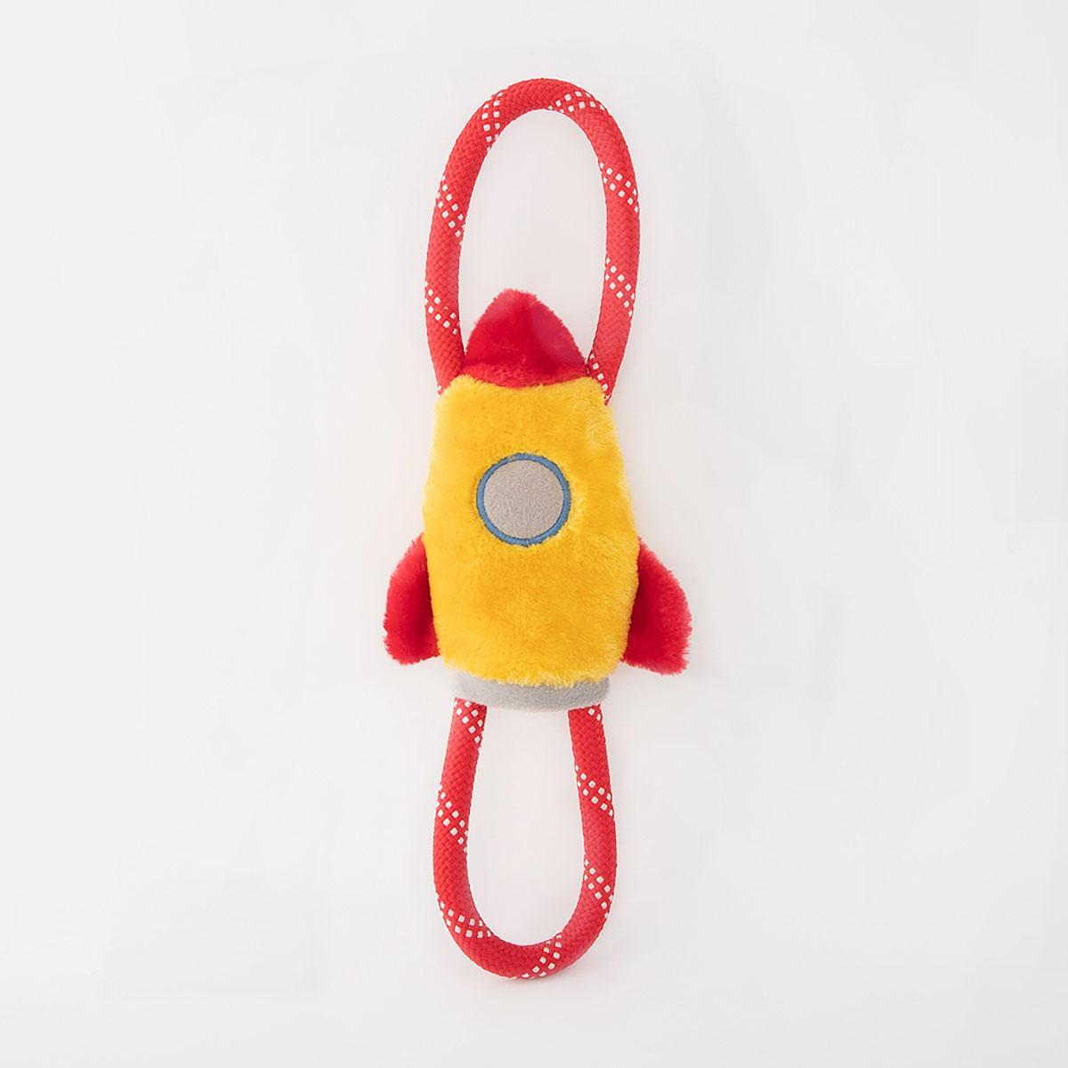ZippyPaws RopeTugz® Dog Toy - Spaceship