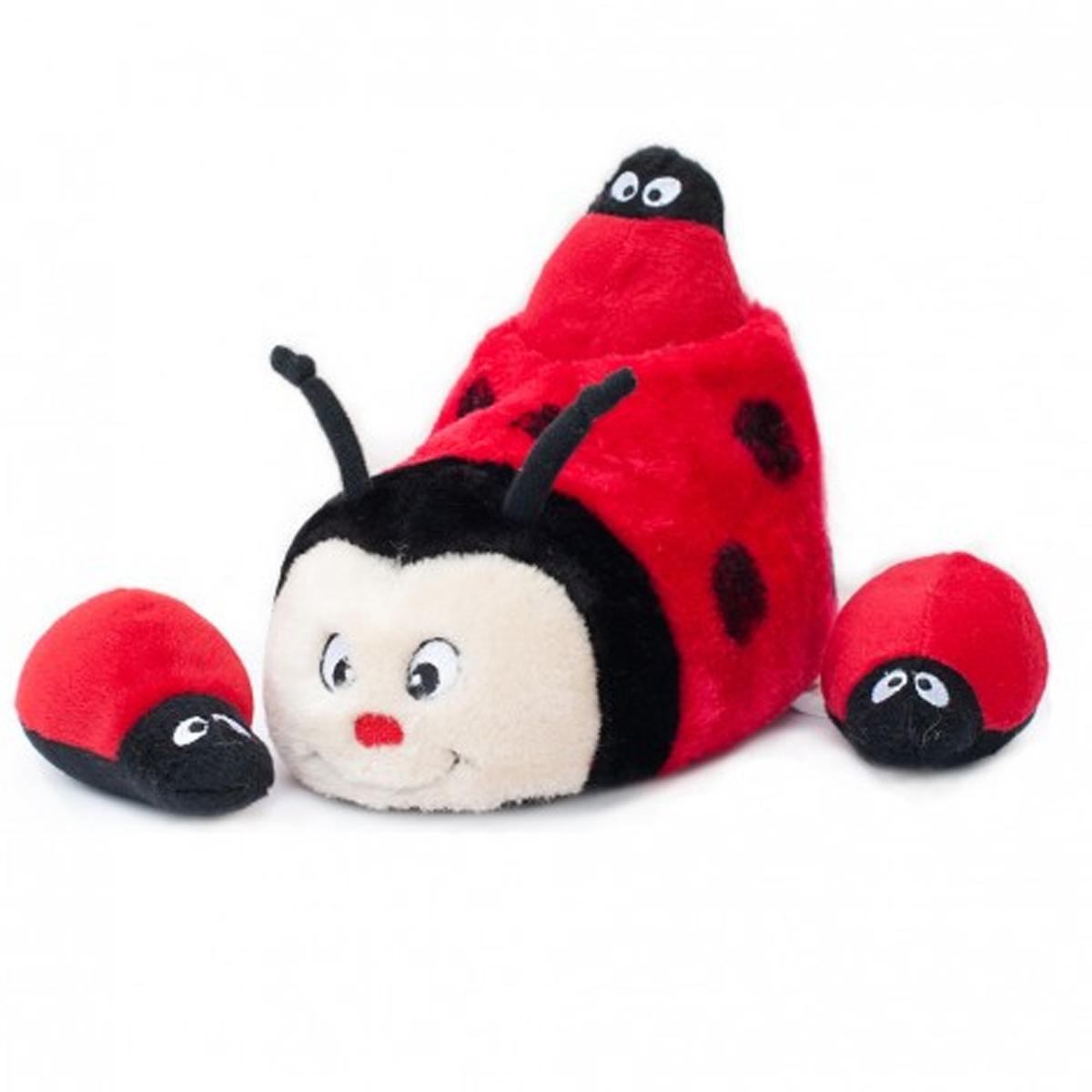 ZippyPaws Slipper Nest Dog Toy - Ladybug