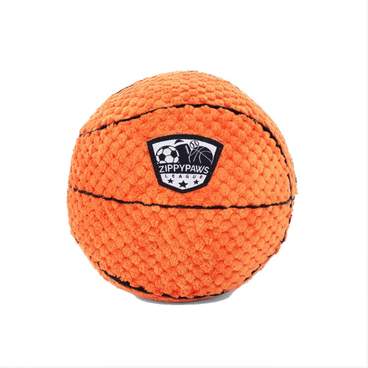 ZippyPaws SportsBallz Dog Toy - Basketball