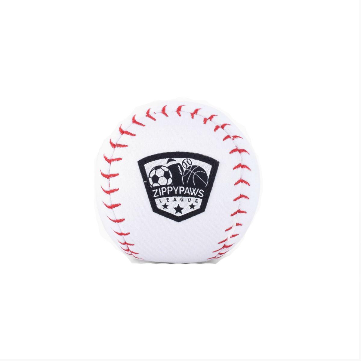 ZippyPaws SportsBallz Dog Toy - Baseball