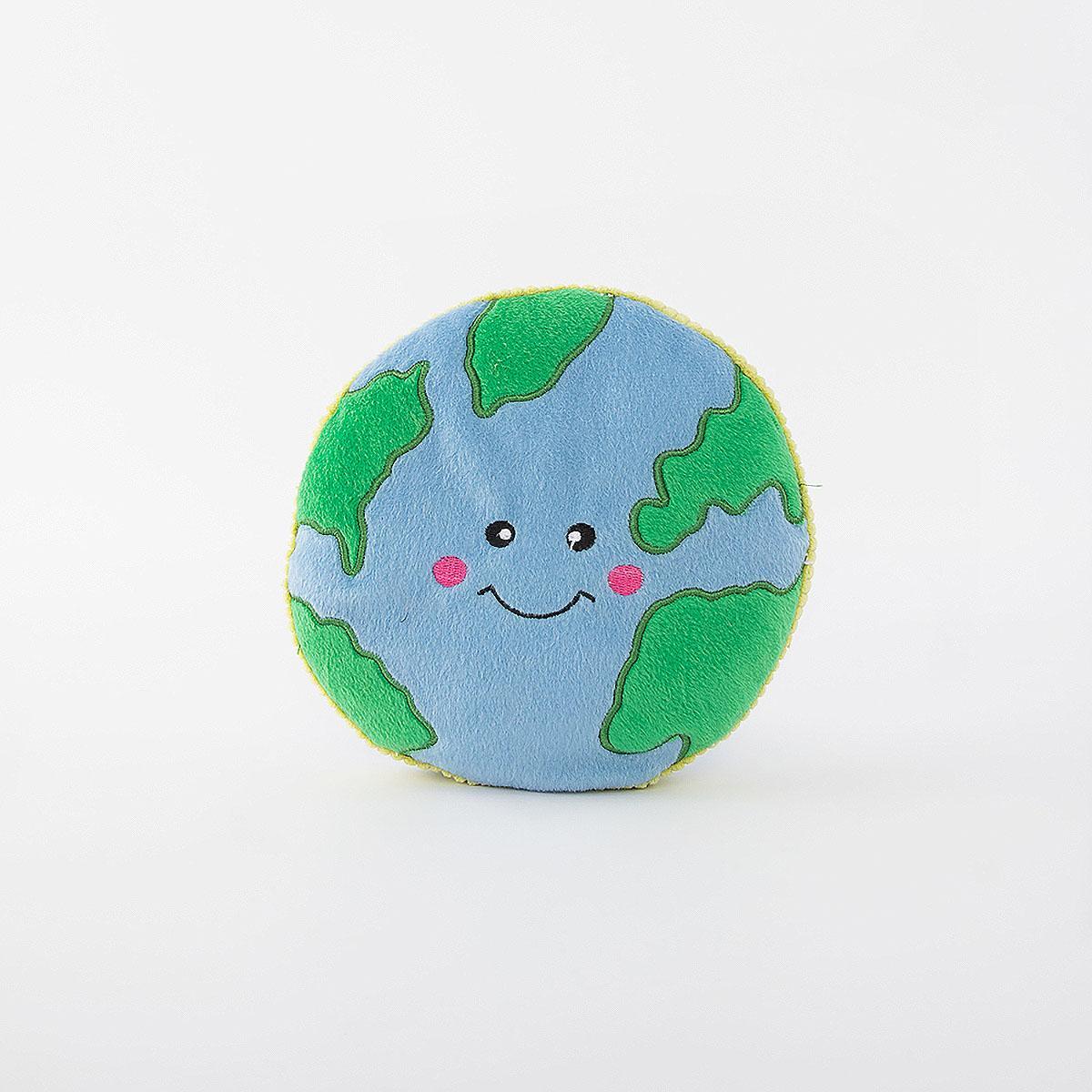 ZippyPaws Squeakie Pattiez Dog Toy - Earth