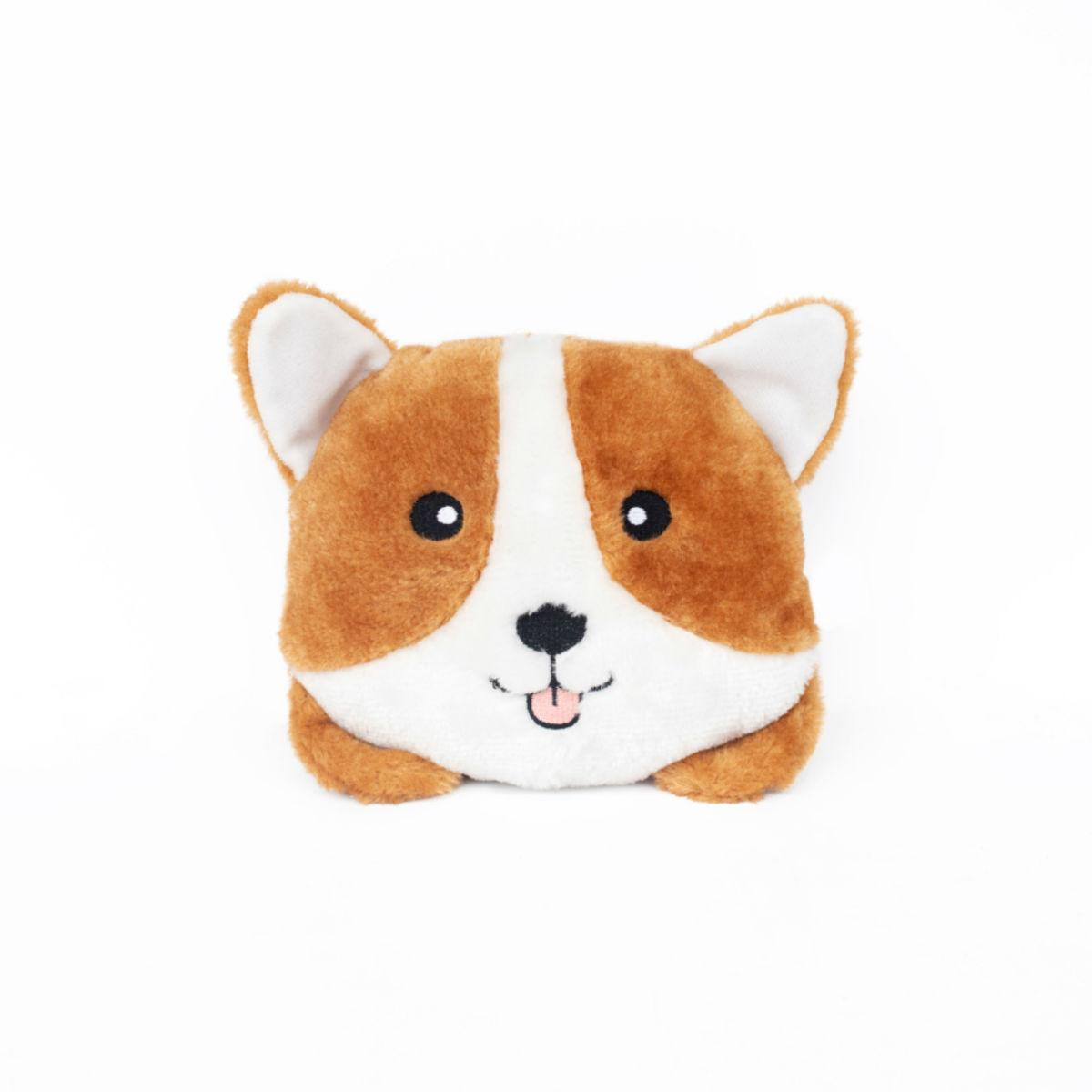 ZippyPaws Squeaky Buns Dog Toy - Corgi