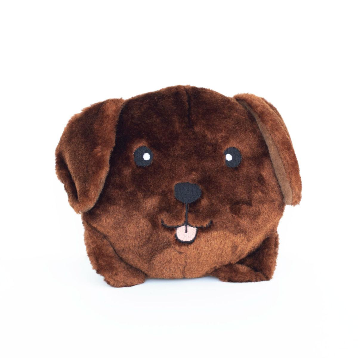 ZippyPaws Squeaky Buns Dog Toy - Chocolate Lab