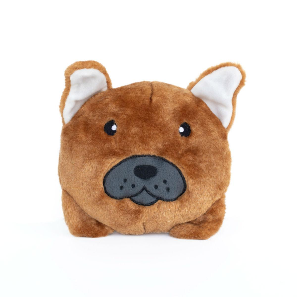 ZippyPaws Squeaky Buns Dog Toy - French Bulldog