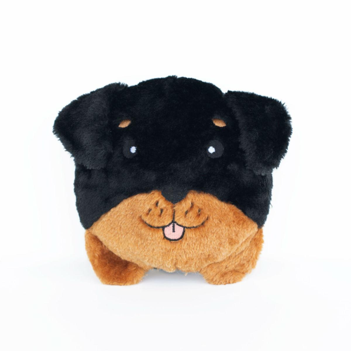 ZippyPaws Squeaky Buns Dog Toy - Rottweiler