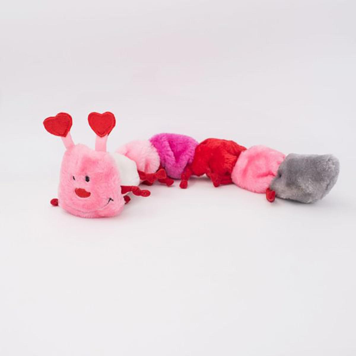 ZippyPaws Valentine's Caterpillar Dog Toy